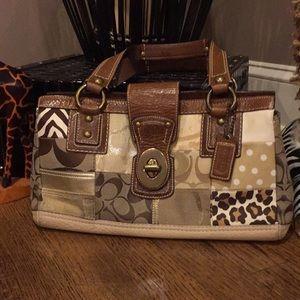 Coach patchwork satchel
